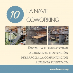 en la nave coworking estimula tu creatividad, aumenta tu motivación, desarrolla la comunicación, aumenta tu eficacia